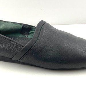 L.B. Evans Leather Slippers Casual Black 9M Men